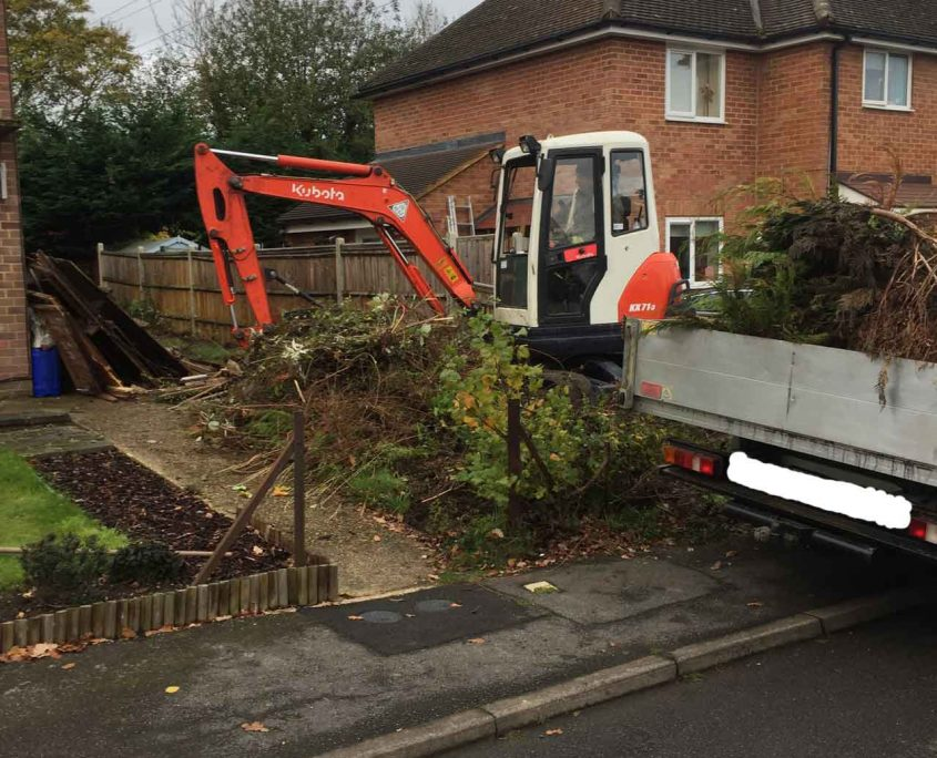 Image of Wokingham driveway construction - Driveway contractors Wokingham - Let The Digger Do It create off street parking and a new driveway in Wokingham.