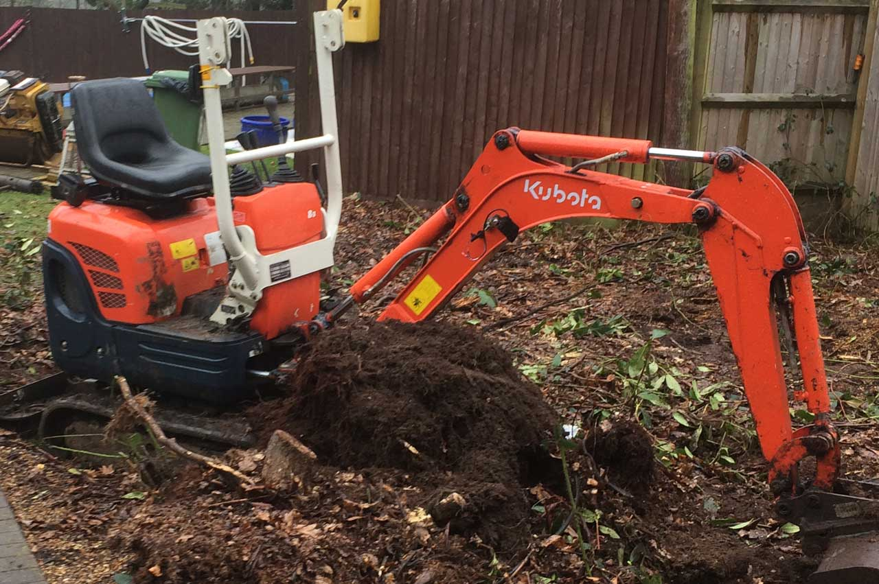Image of a mini digger - Digger hire and excavator hire in Berkshire, Hampshire and Surrey