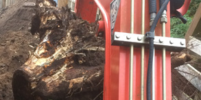 Image of Tree stump removal Berkshire, Hampshire and surrey - let the digger do it.